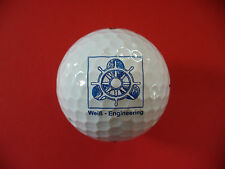 Pelota de golf con logotipo: timón-blanco Engineering-marine barco impuesto pelota de logotipo