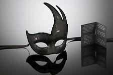 original venezianische Schwan Maske Augenmaske Karneval, Fasching Schwarz