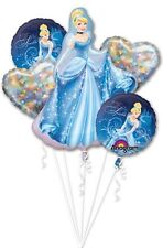 Cinderella 5 Birthday Mylar Bouquet Balloons Party Decoration Set
