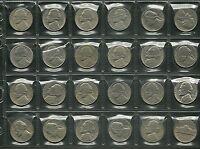 LOTTO 24 MONETE VARIE STATI UNITI USA 5 Cent. JEFFERSON varie date prezzo regalo