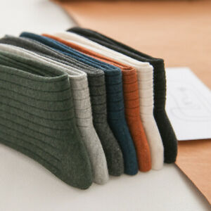 5 Pairs Business Men's Socks Thread Retro Cotton Socks Middle Tube Jacquard Chic