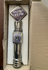12� Snow Plow Milk Stout Widmer Brothers Beer Tap Handle Knob Ceramic Chrome New