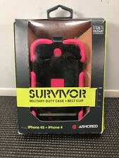 ARMOURED SURVIVOR MILITARY DUTY CASE WITH BELT CLIP FOR iPHONE 4S AND iPHONE 4 M