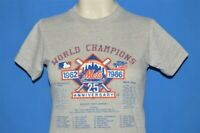 vtg 80s NEW YORK METS 25TH ANNIVERSARY 1986 WORLD CHAMPS t-shirt YOUTH LARGE YL
