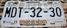 Mexico ESTADO DE MEXICO Expired Truck License Plate # MDT-32-30