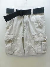 ABERCROMBIE & FITCH A&F thick belted lite khaki CARGO Shorts mens boys sz 28