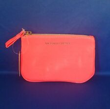 Victoria's Secret - Coral - Faux Leather - Coin Purse wth Keyring - NEW