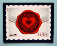 Postage Stamp Magnet With A Love Letter Theme