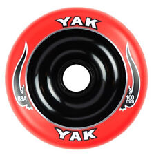 2-100mm x 88a red on black YAK SCAT Metalcore Scooter Wheel with bearings