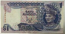 FD5849685 Jaffar $1 1st prefix banknote very nice