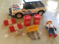 Playmobil Rally Car Spidan Vintage 1976 with Rally Driver Figure & extras