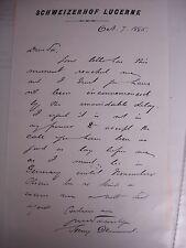Henry Drummond 1886 ALS