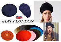 iHatsLondon womens 100% wool high quality winter French style baret many colors