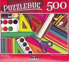 "Jigsaw Puzzle SCHOOL SUPPLIES 500 Pcs 18""x11"" Puzzlebug"
