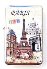 briquet tempête 107H essence 6x4x1,2cm imprimé Paris Tour Eiffel métal cadeaux