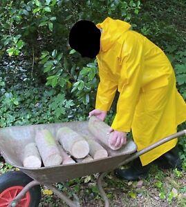Friesennerz PVC Gummi Regenmantel Rubber Raincoat Ölzeug Mantel Ostfriesennerz
