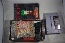 Sim City (Super Nintendo SNES) Complete in Box FAIR SimCity