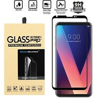 FULL COVER 3D Premium Tempered HD Glass Screen Protector For LG V30