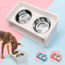 Raised Dog Bowls Elevated Double Bowl Feeding Station for Small Medium Large Dog