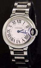 Cartier Ballon Bleu 3009 high fashion SS 28.5mm quartz ladies watch w/ box