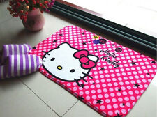Cute Hello Kitty Cute Floor Mat Plush Rug Skidproof Door Mat Pink Star