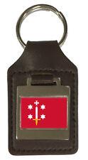 Leather Keyring  Engraved Haarlem City Netherlands Flag