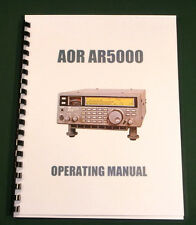 AOR AR5000 Operating Manual - Premium Card Stock Covers & 28lb Paper!