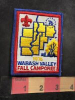 Vtg 1976 WABASH VALLEY FALL CAMPOREE Bicentennial Boy Scouts Patch 92NL
