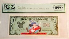 1997D $1 Sorcerer Mickey Disney Dollar, PCGS Very Choice New 64PPQ, D00319296A