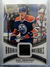 2013-14 Upper Deck Rookie Materials Jersey - Nail Yakupov Edmonton Oilers