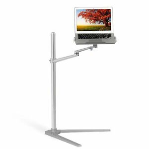 """Magichold laptop/Macbook 7-17"""" floor stand for Netflix movie on bed"""