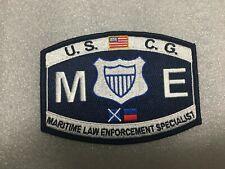 Us Coast Guard Maritime Law Enforcement Specialist Patch Measures 4 1/2 X 3 1/4