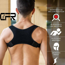 CFR Adjustable Back Shoulder Support Brace Posture Corrector Therapy Pain Relief