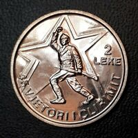 Albania 2 LEKE 1989 splendid UNC coin - 45th Anniversary of Liberation