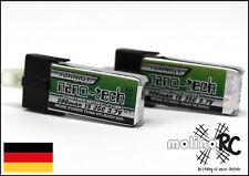 2x Turnigy nano-tech | 300mah | 1S 35C | NEU Lipo Akku 3,7V | Li-Po | Blade mCPx