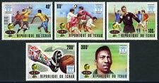 Chad 341-345,MI 811-815,MNH. World Cup Soccer Championship, Argentina.Pelé, 1977