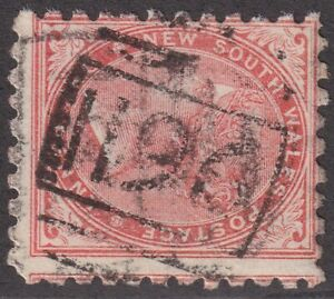 NSW numeral postmark 1196(1) of MOUNT CARMEL [rated 4R] Type 4B