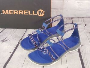 Merrell -Sunstone - Blue and White Strap Sandals - Size 8 M