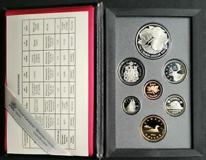 1996 Canada Silver Dollar Proof Set with 200th Anniversary McIntosh Apple