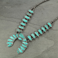 *NWT* Full Squash Blossom Natural Turquoise Necklace-7321320089