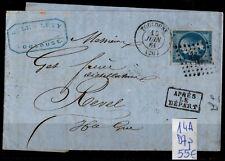 Cachet D7p sur NAPOLÉON 14A sur Lettre = Cote 55 € / Lot Classique France