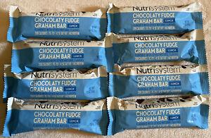 8 Fresh ❤️ Nutrisystem LUNCH Bars Chocolate Fudge Graham Bar S BB 11/6/21