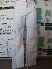 D&G Dolce & Gabbana pantaloni bianchi cotone taglia 27 40/42 IT pants trousers
