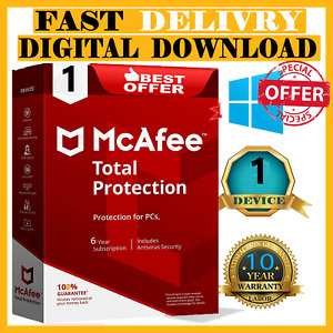 🔰 McAfee Total Protection 2021 Antivirus✅ 1 Devices✅ 10 Years 🔰 Woldwide🔰