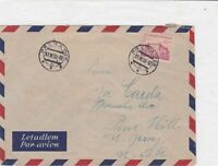 czechoslovakia 1950 airmail stamps cover ref 19665
