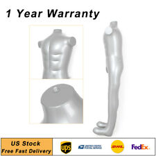 Man Male Inflatable Model Dummy Torso Body Mannequin Armless Display Fashion New