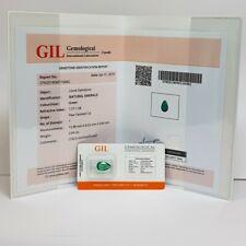 Smeraldo Goccia 2.64 carati certificato in Blister - Gil