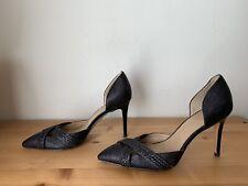 Banana Republic Delise Woven D'Orsay Pump shoes, BLACK SIZE 8.5M
