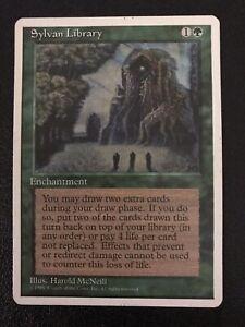 Sylvan Library - MtG - 4th Edition -  Magic: The Gathering Green Enchantment