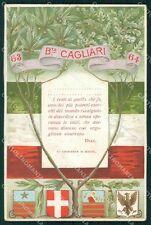 Militari 63º 64º Reggimento Fanteria Brigata Cagliari cartolina XF5221